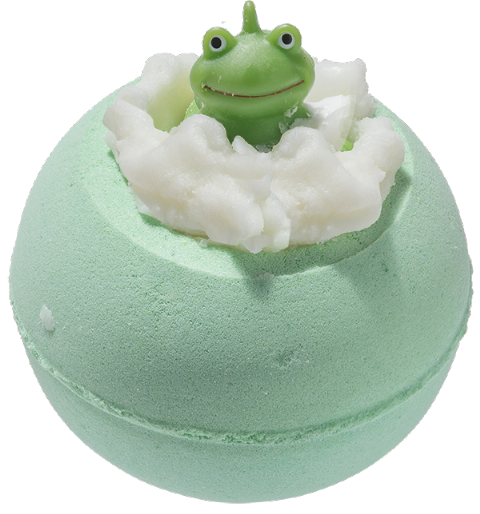 It's Not Easy Being Green Bath Bomb With Toy Frog